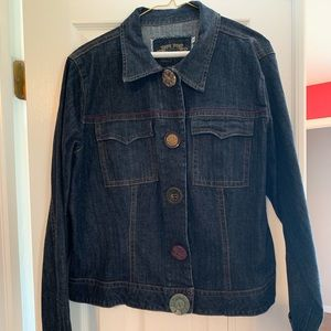 Cabi Jean Jacket Large Button Snap XL!